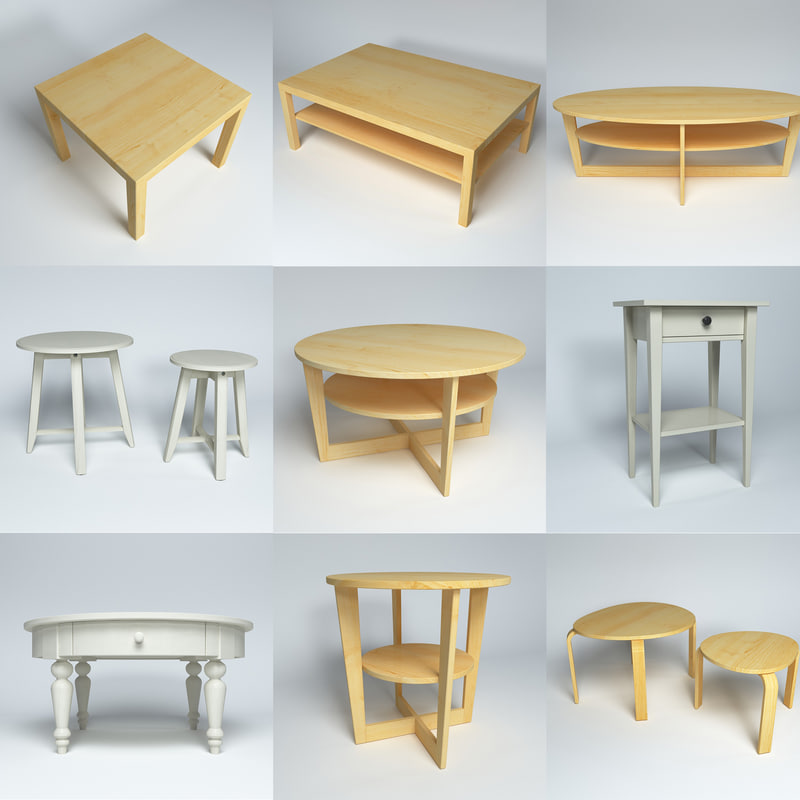 3d model furniture tables
