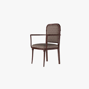 3d vintage dinner armchair model