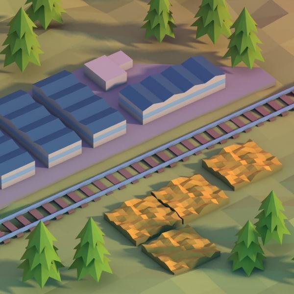 3d model agricultural area