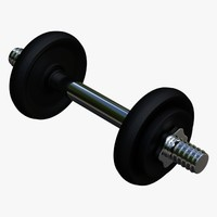 3d dumbbell collada dae