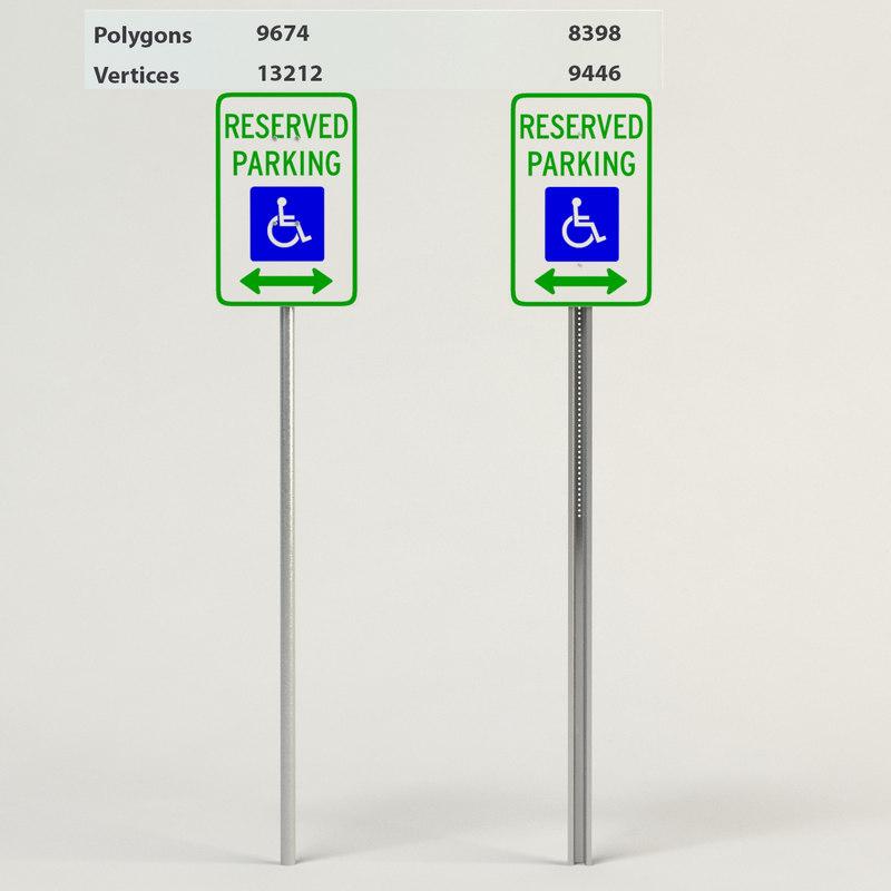 3d handicapped reserved parking