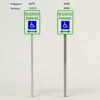3d handicapped reserved parking