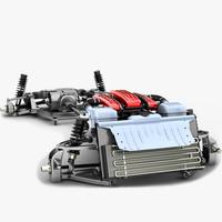 chassis ferrari ff v12 3d obj