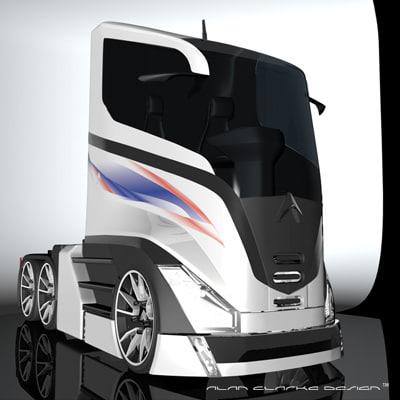 concept truck design 3d model