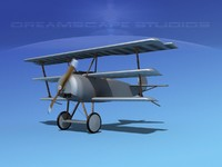 triplanes fokker dr-1 fighter 3d max