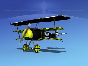 3d triplanes fokker dr-1 fighter