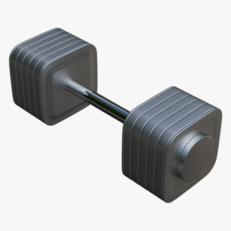 dumbbell collada dae 3d 3ds