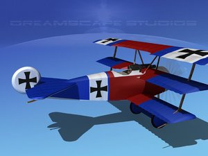 dxf triplanes fokker dr-1 fighter