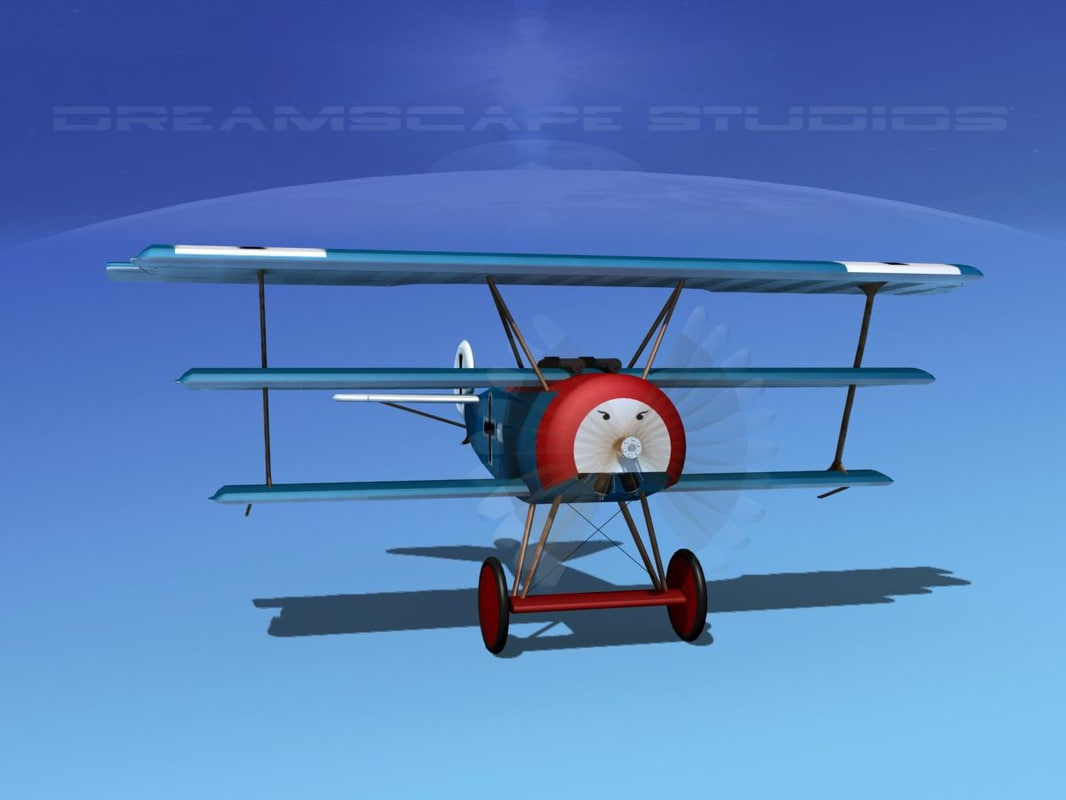 3d model triplanes fokker dr-1 fighter