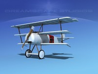 triplanes fokker dr-1 fighter 3ds