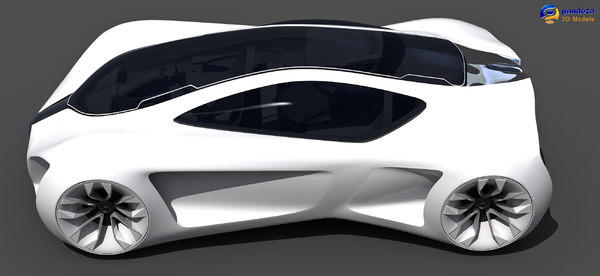 3d mercedes benz biome concept car model