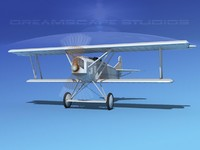 3d model fokker dvii fighter