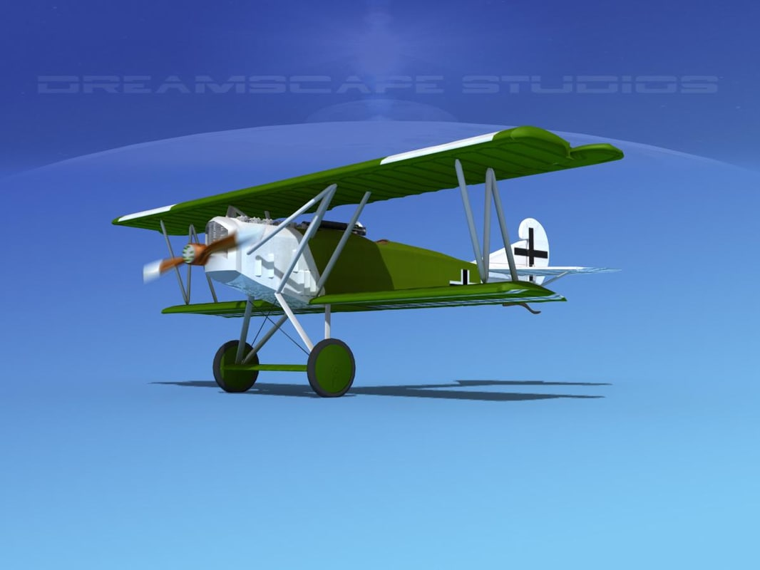 fokker dvii fighter luftwaffe 3d 3ds