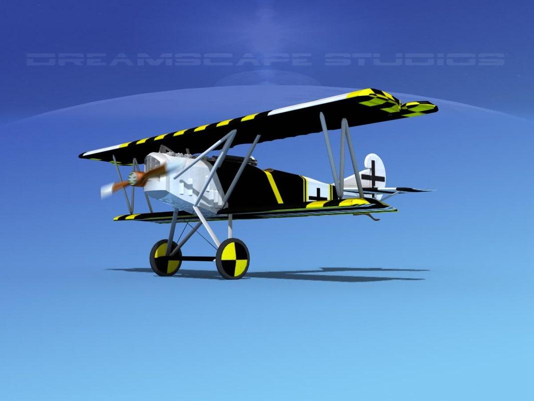 fokker dvii fighter luftwaffe 3ds