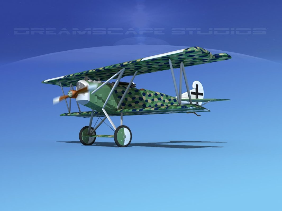 fokker dvii fighter luftwaffe 3d max