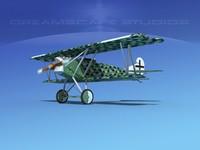 fokker dvii fighter luftwaffe 3d max