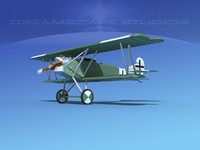 fokker dvii fighter luftwaffe 3d model