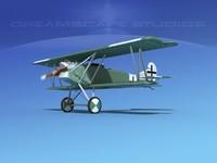 fokker dvii fighter luftwaffe 3d model