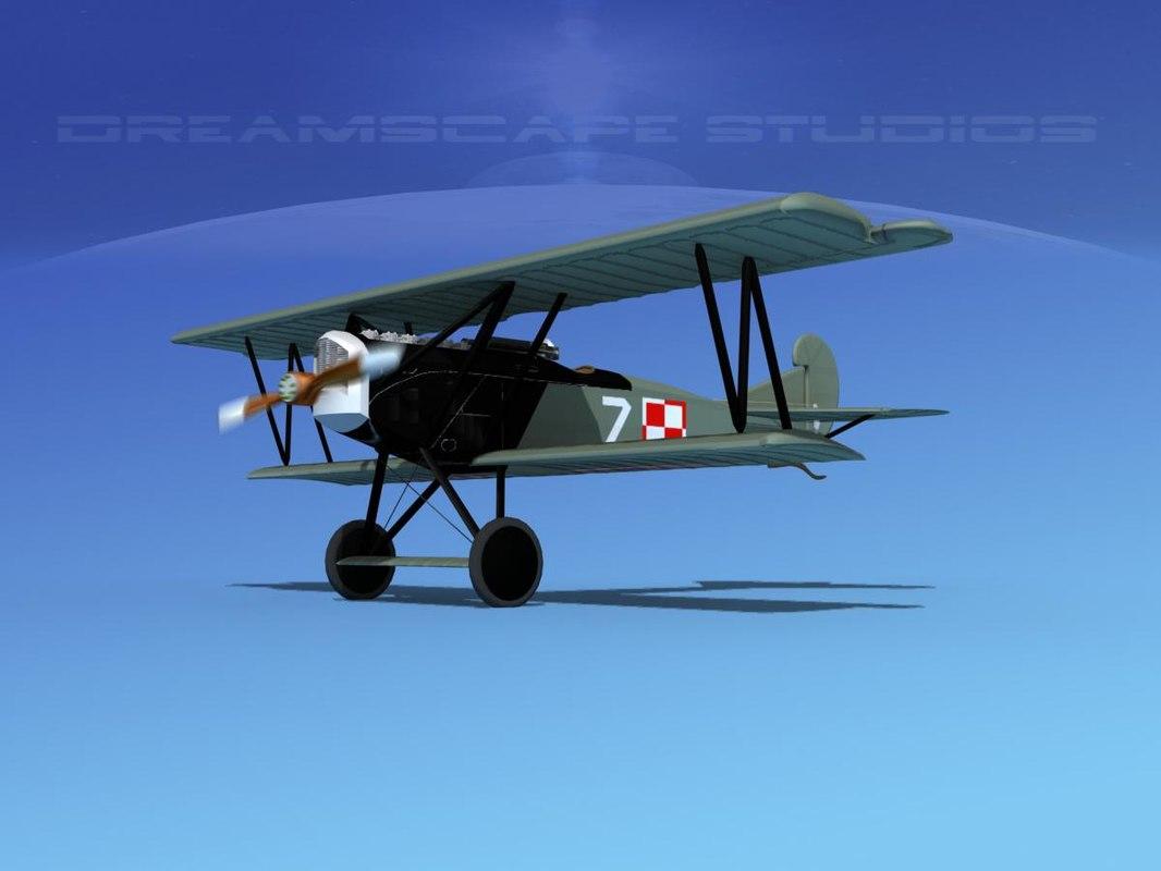 3d fokker dvii fighter model