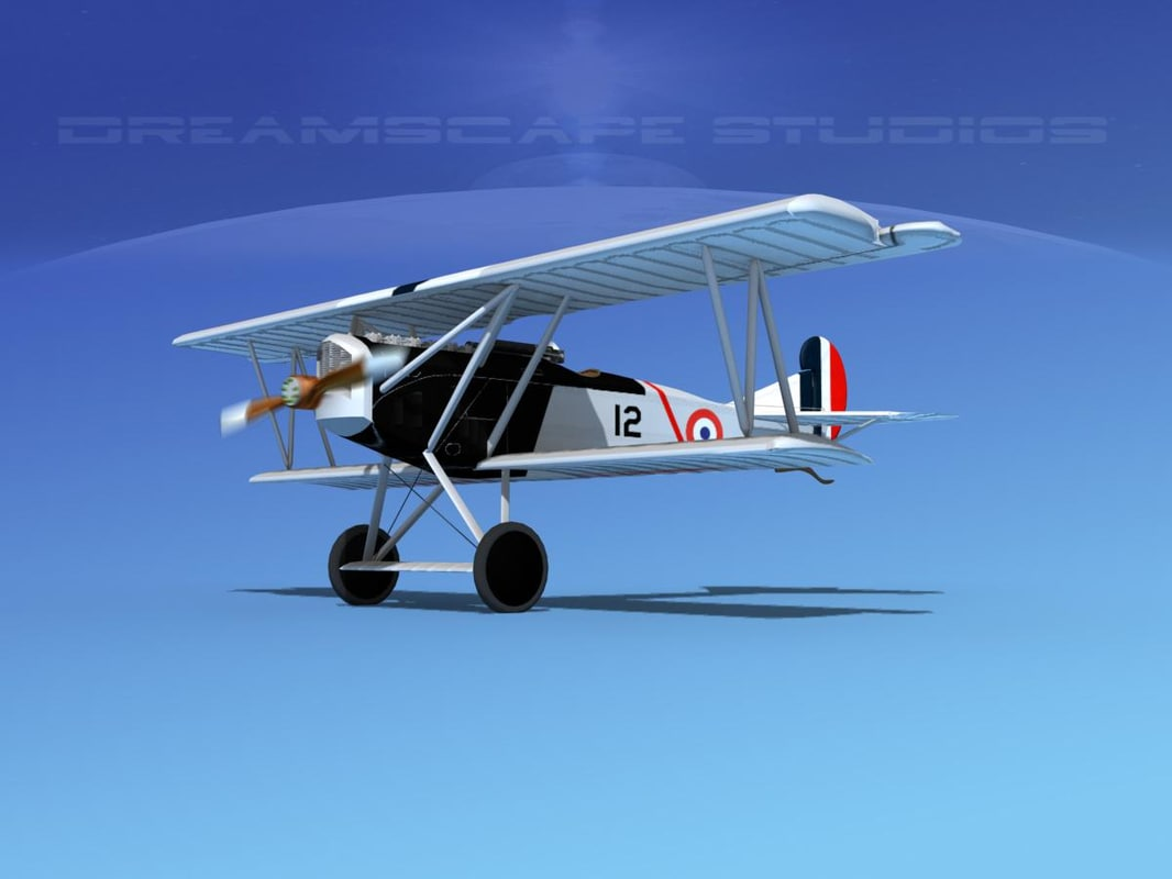 3d fokker dvii fighter model