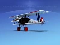fokker dvii fighter 3d model
