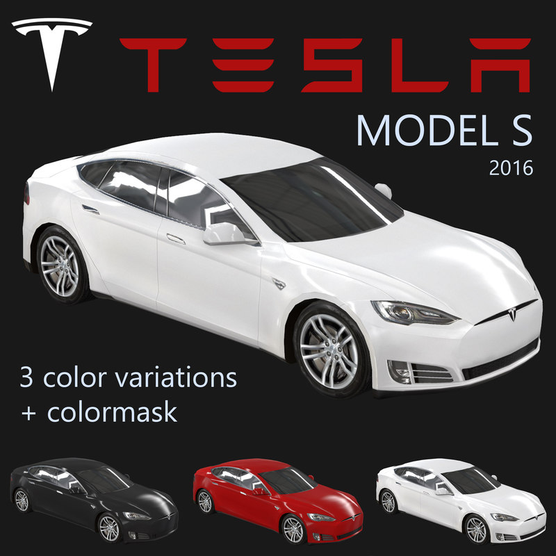 electric sedan tesla s 3ds