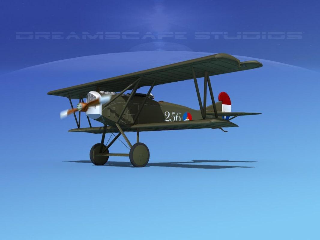 3d model fokker dvii fighter