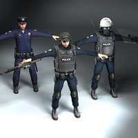 3d swat t-pose model