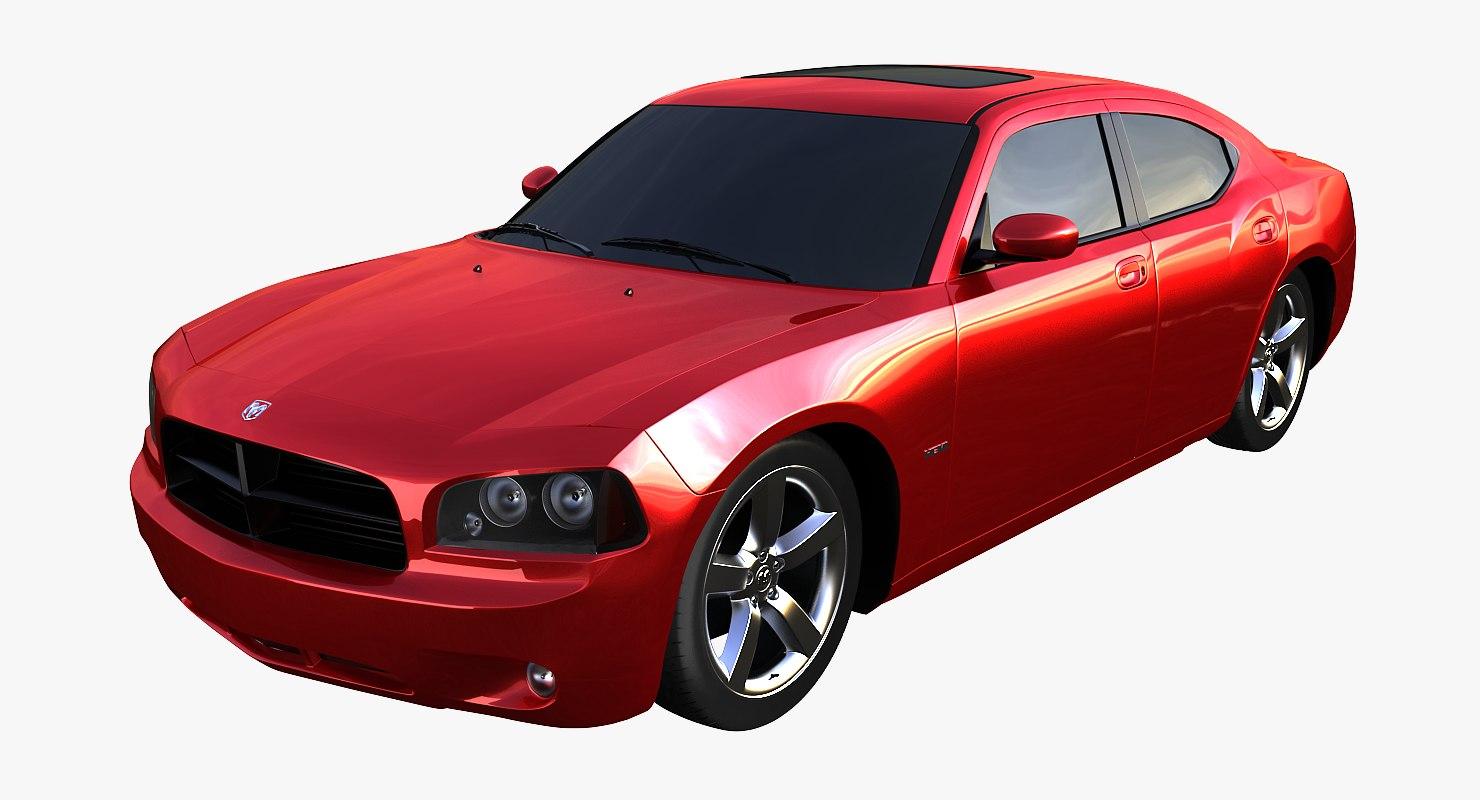 dodge charger interior car 3d max