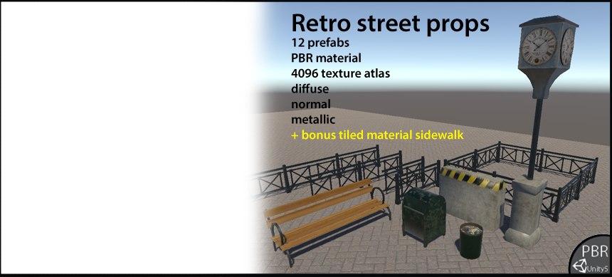 street props retro 3d 3ds