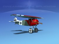 3d model fokker dviii fighters