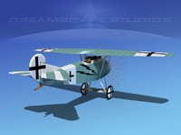 3d model fokker dviii fighters