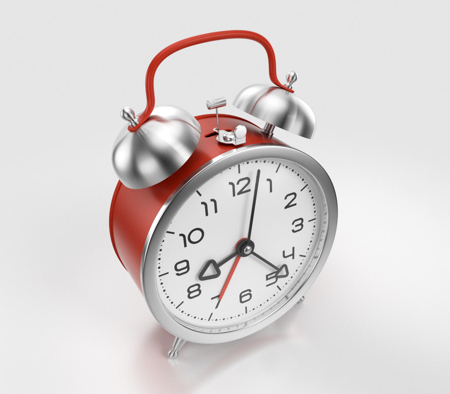 mechanical alarm clock obj