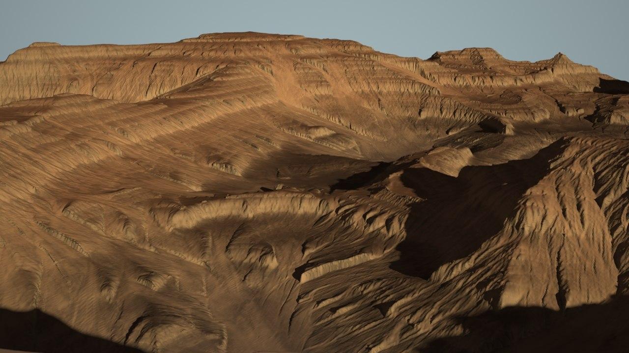 3d desert canyon model