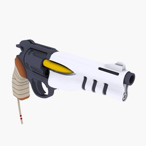 anime grenadier weapon gun 3d model