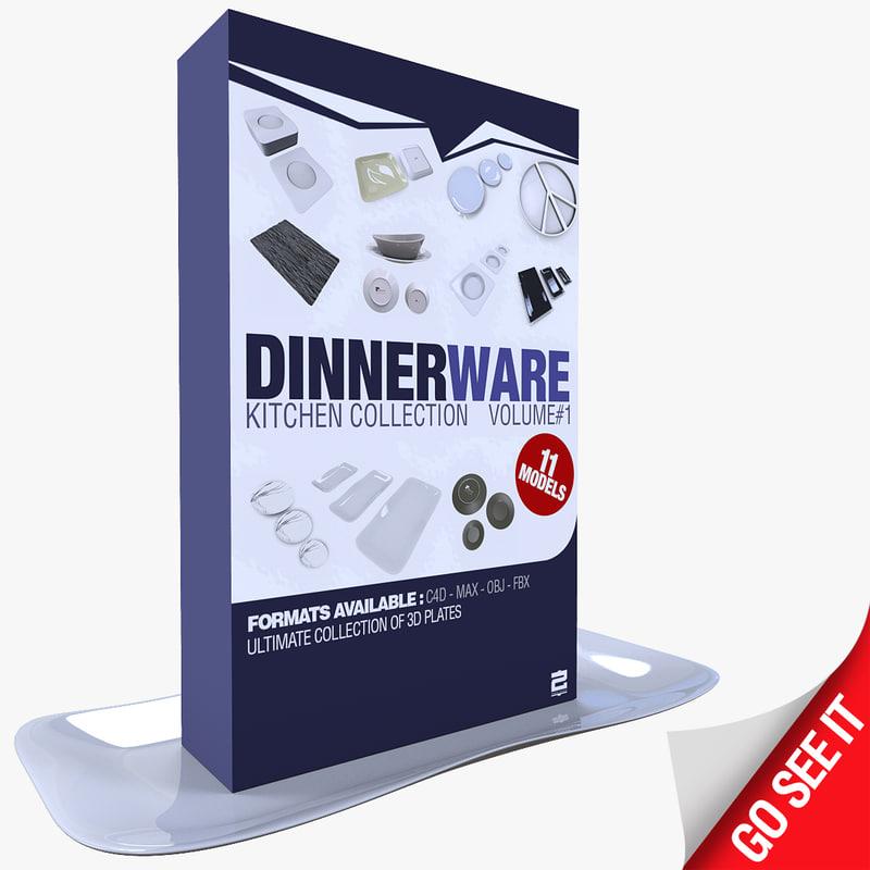 3d model dinnerware service dish