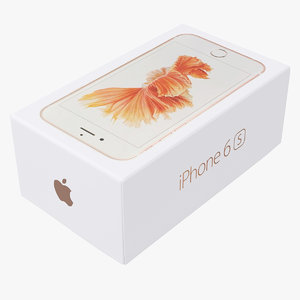 3d iphone 6s box model
