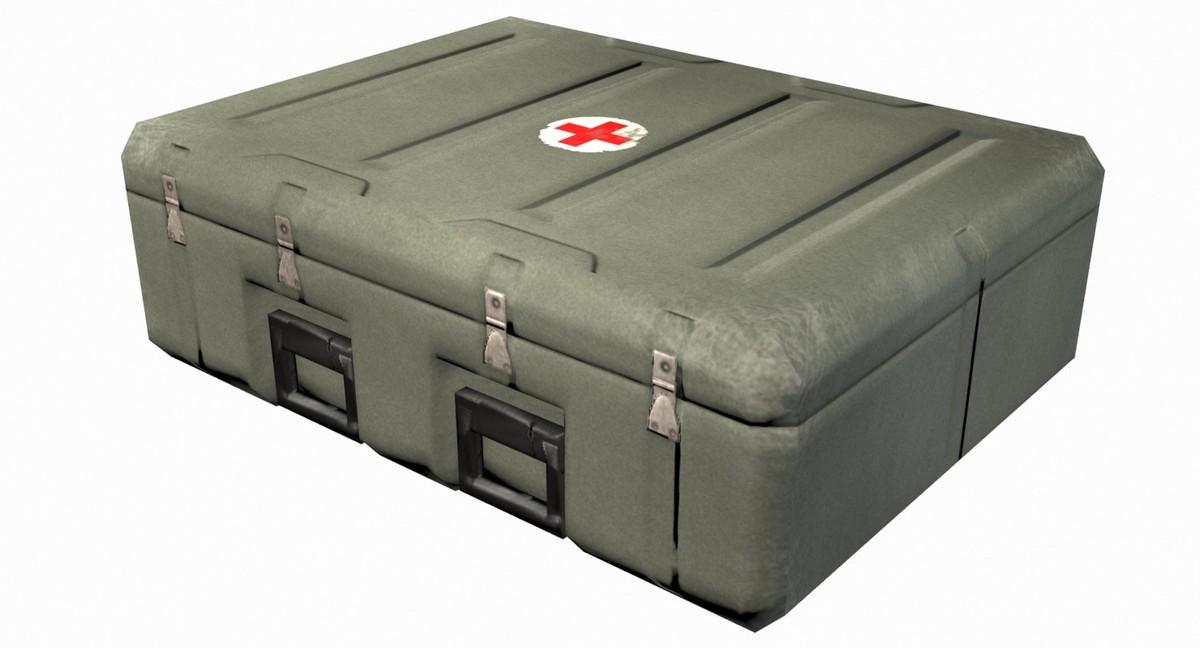 aid crate 3d model