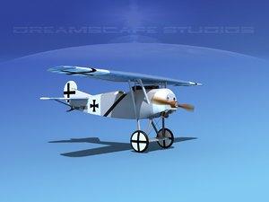 3d fokker dviii fighters model