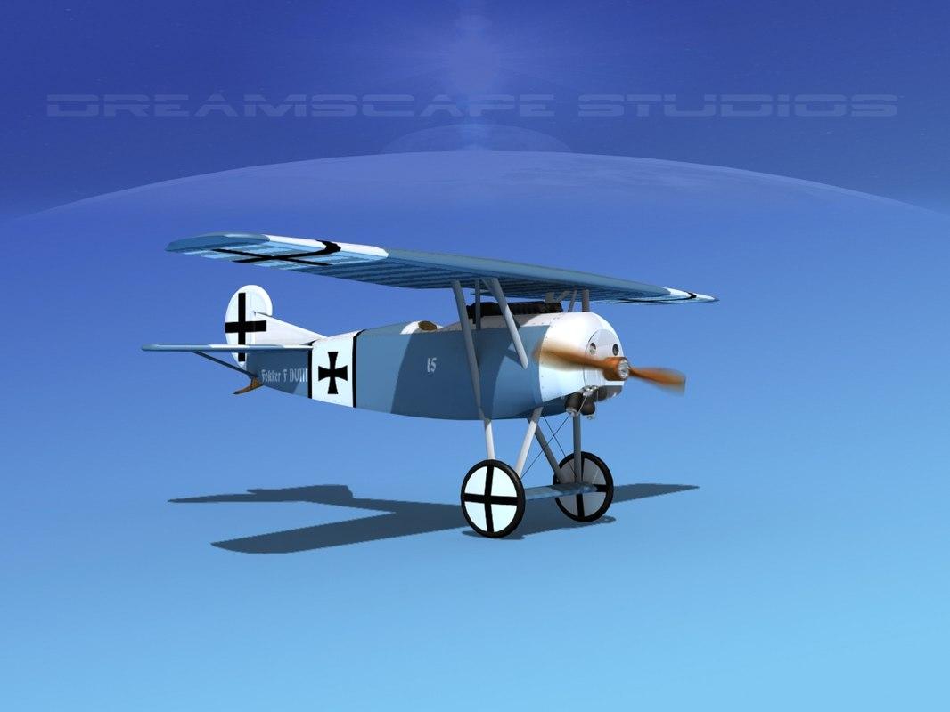 fokker dviii fighters 3d 3ds
