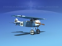 fokker dviii fighters 3d 3ds