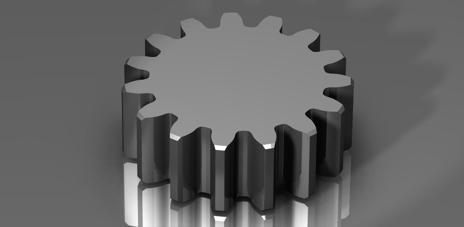 3d model of spur gear 48 48p