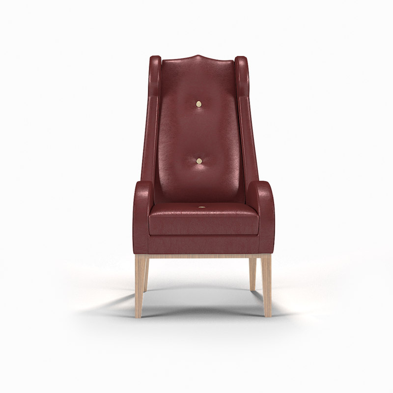 3d model console chair