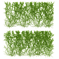 3d model wall wild grapes leaves