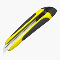 3d model stationery knife