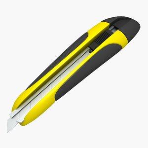 3d model stationery knife