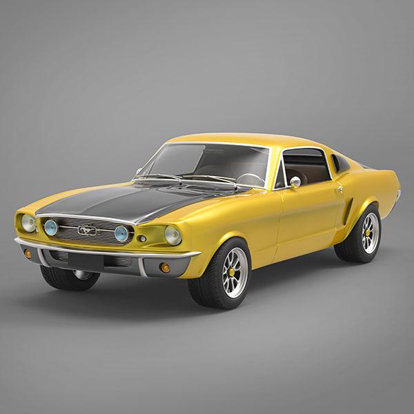 3d mustang 1976 model