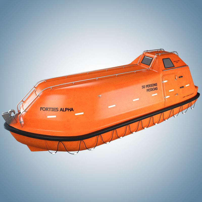 3d model lifeboat norsafe