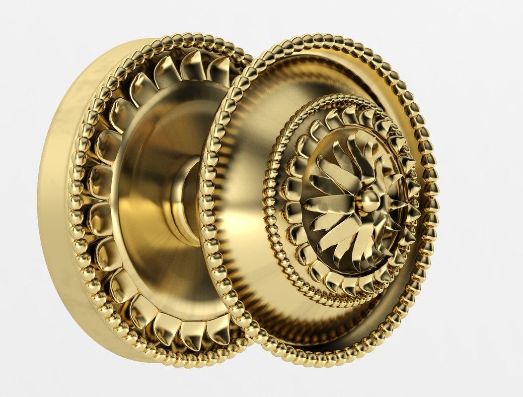 3d brass handle