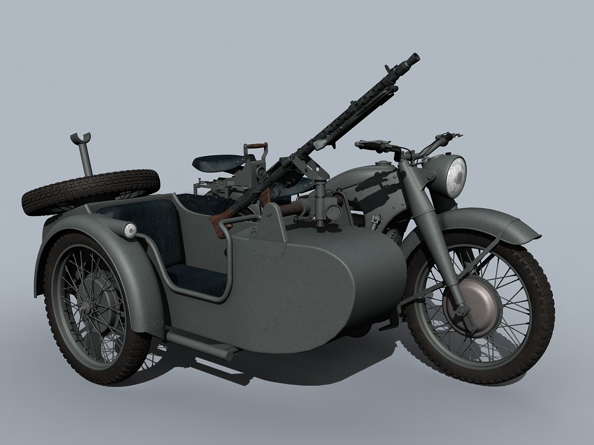 german wwii bmw r-12 3d model